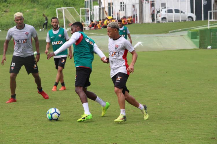Jogadores participaram de uma atividade tática na Toca do Leão - Foto: Moysés Suzart | EC Vitória