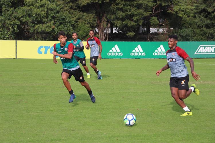 Leão iniciou preparação para duelo contra o São Paulo no CT do Palmeiras - Foto: Maurícia da Matta l EC Vitória