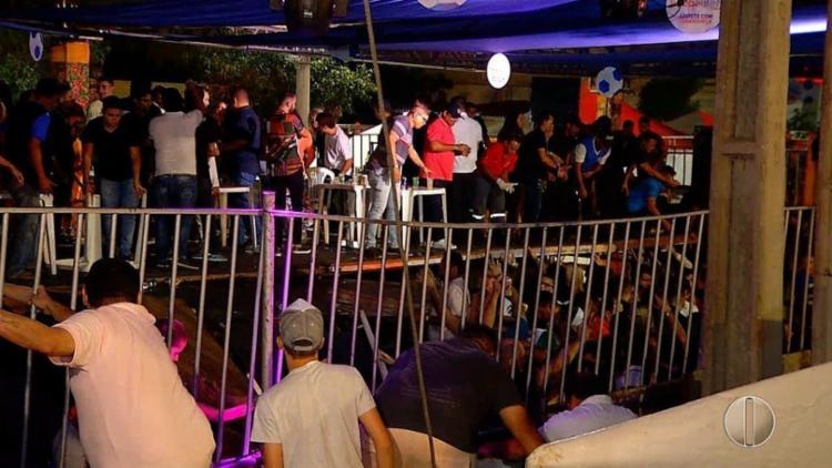 Segundo o Corpo de Bombeiros, 32 pessoas ficaram levemente feridas - Foto: Reprodução   TV Globo