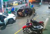 Câmeras de segurança flagram assalto a posto de combustíveis | Foto: Reprodução | Berimbau Notícias