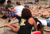 Acidente com caminhão deixa feridos na avenida Aliomar Baleeiro | Foto: Cidadão Repórter | Via WhatsApp
