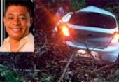 Vice-prefeito de Itaparica morre após carro colidir em árvore | Foto: Divulgação