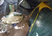 Acampamento utilizado por traficantes é localizado no Rio Sena | Foto: Divulgação | SSP