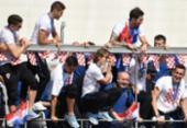 Seleção da Croácia é recebida com festa | Foto: