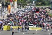 Professores e outros servidores municipais realizam protesto em Salvador | Foto: Joá Souza | Ag. A TARDE