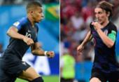Mbappé e Modric buscam glória na final da Copa entre França e Croácia | Foto: AFP