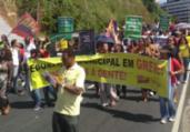 Professores protestam com caminhada na avenida Garibaldi | Divulgação