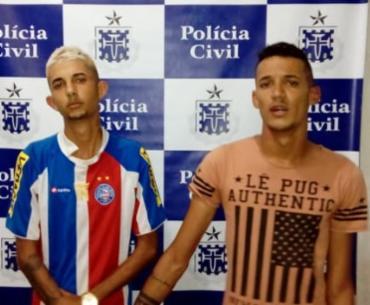 Marcelo e Lucas foram capturados após denúncia anônima - Foto: Divulgação   Polícia Civil