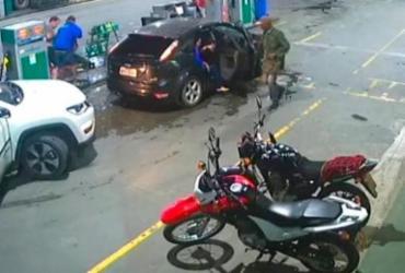 Câmeras de segurança flagram assalto a posto de combustíveis | Reprodução | Berimbau Notícias