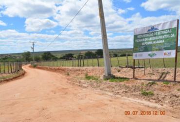 Obra de construção da estrada de Bom Jardim prossegue em Canudos