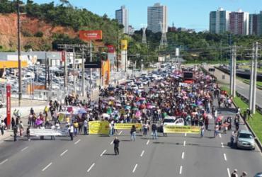 Professores e outros servidores municipais realizam protesto   Jeremias Silva   Divulgação   Sindseps