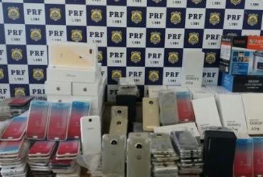Mais de 700 aparelhos eletrônicos sem nota fiscal são apreendidos em Conquista | Divulgação | PRF