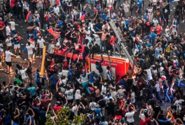Quase 300 são detidos na França por incidentes na celebração do título | Gerard Julien | AFP