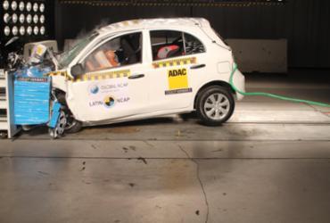 Nissan March recebe uma estrela para adultos após crash test   Divulgação