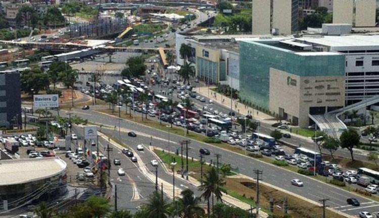 Acidente aconteceu na região do Shopping da Bahia - Foto: Reprodução   Google Maps