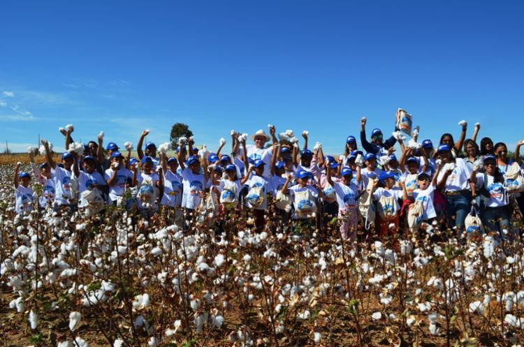 """Através do projeto """"Conhecendo o campo"""" os alunos aprofundaram seus conhecimentos sobre o processo da cultura do algodão - Foto: Divulgação"""