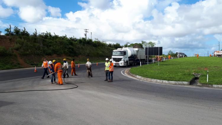 Obra será realizada até sexta-feira, 27, sempre das 7h às 17h - Foto: Divulgação | Concessionária Bahia Norte