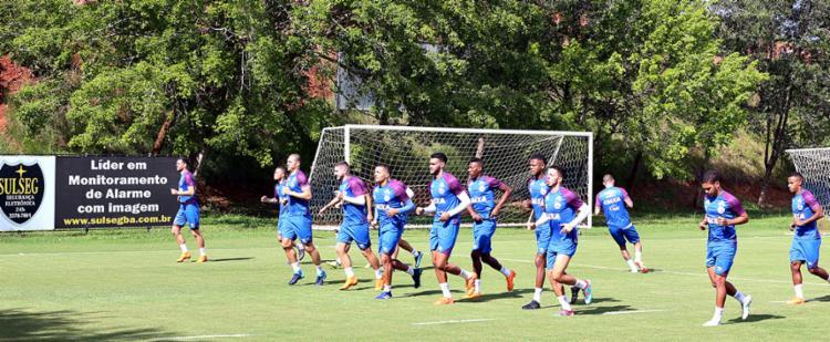 O Tricolor tem semana decisiva na Copa do Brasil e no Brasileirão - Foto: Felipe Oliveira   EC Bahia