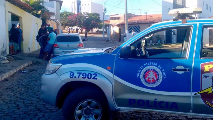 Vítima foi levada para o DPT de Vitória da Conquista - Foto: Reprodução | Blog do Jeferson Almeida