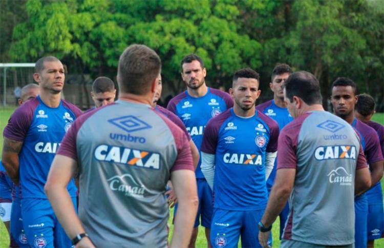 Elenco do tricolor durante treinamento em São Luis - Foto: Divulgação   EC Bahia