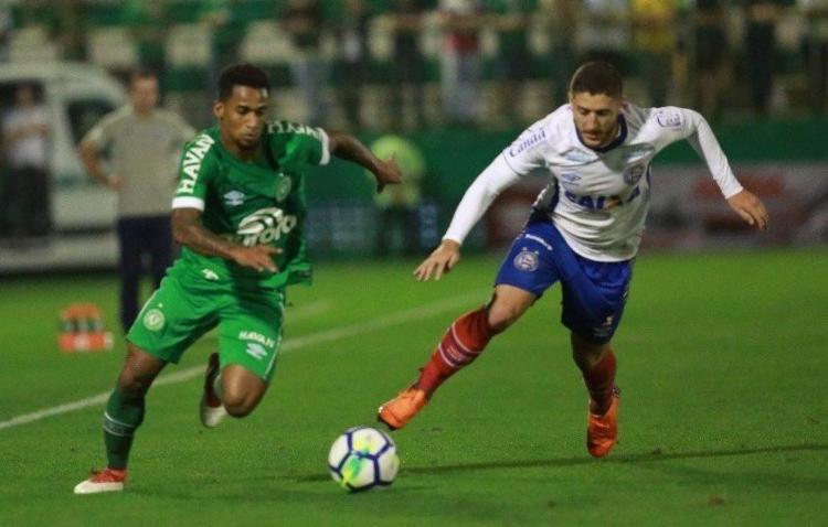 Tricolor mostrou evolução em campo, pressionou o time da casa, mas voltou a falhar no fim do jogo - Foto: Reprodução l Instagram l @ChapeconeseReal