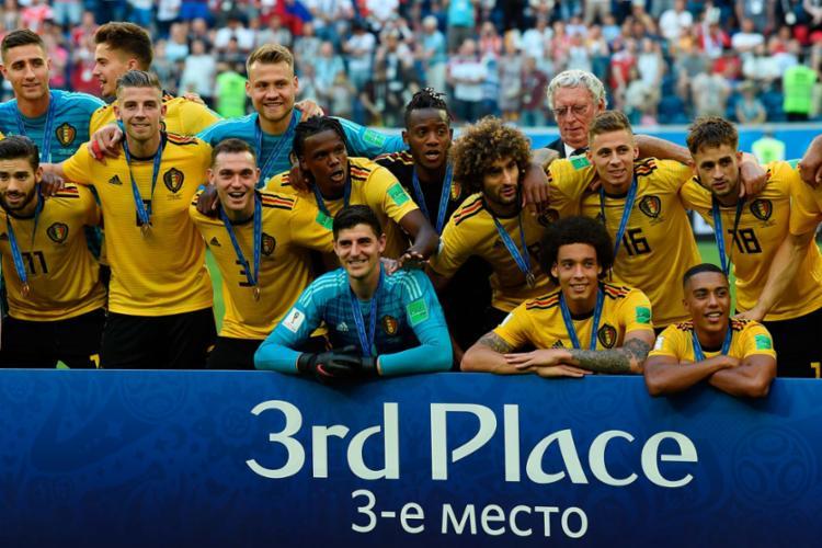 Bélgica conquistou a vitória sobre a Inglaterra por 2 a 0, em São Petersburgo - Foto: AFP