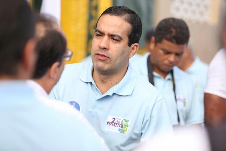 Bruno Reis é vice de ACM Neto | Foto: Tiago Caldas | Ag. A TARDE