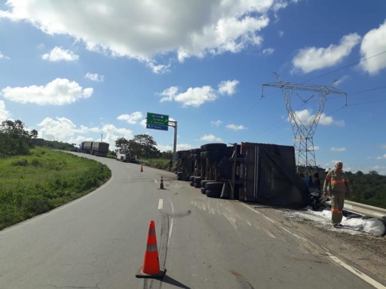 Acidente ocorreu no início da tarde desta sexta-feira - Foto: Bahia Norte