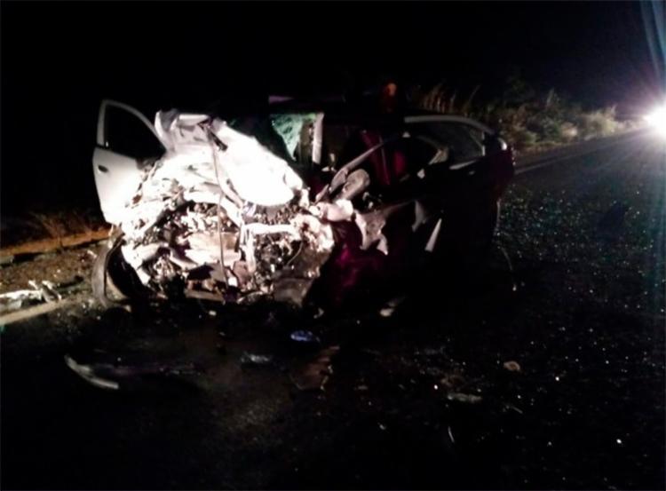 Os dois motoristas morreram na hora com o impacto - Foto: Site Catité Notícias   Reprodução