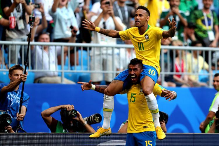 Carregado por Paulinho, Neymar fez sua melhor partida - Foto: Lucas Figueiredo l CBF