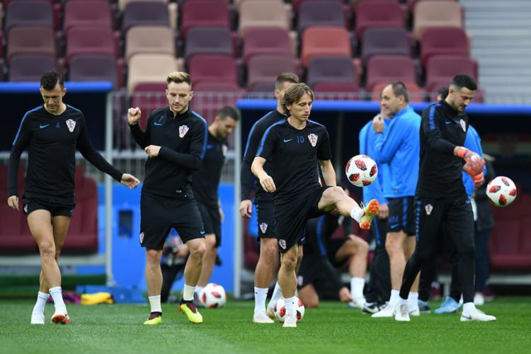 Comandada por Modric, a seleção croata tenta chegar na decisão pela vez na história - Foto: Yuri Cortez | AFP