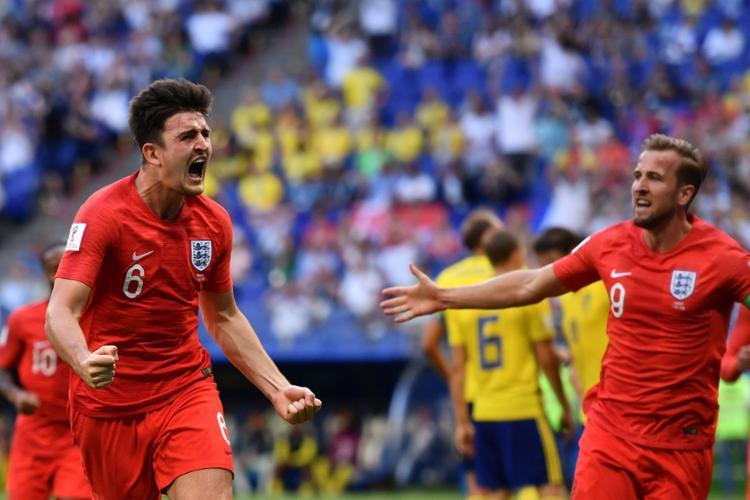 Ingleses comemoram a classificação para as semifinais - Foto: Fabrice Coffrini | AFP