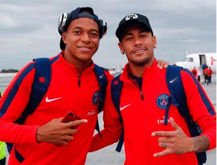 Camisa 10 do Brasil escreveu mensagem para o amigo Mbappé em seu perfil nas redes sociais - Foto: Reprodução | Instagram
