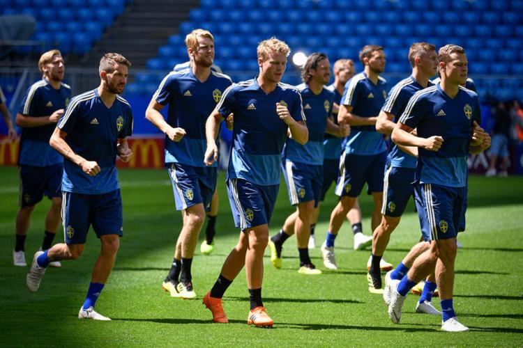 Contra a Inglaterra, a Suécia tentará a classificação para as semifinais - Foto: Alexander Nemenov   AFP