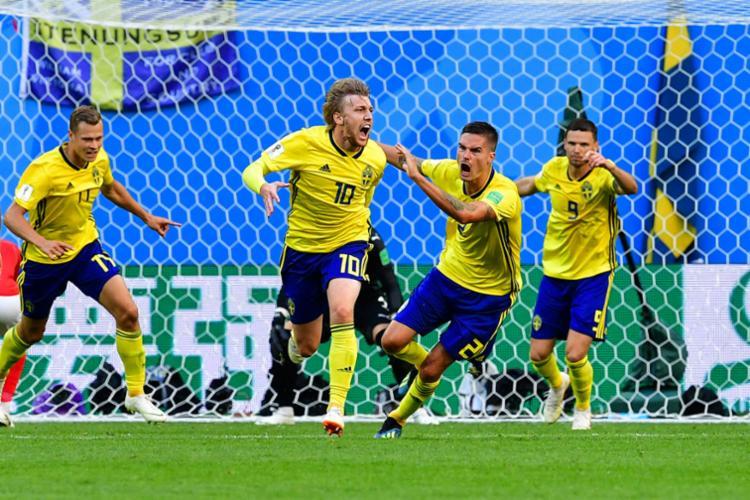 Gol de Emil Forsberg surgiu aos 20 minutos do segundo tempo - Foto: AFP