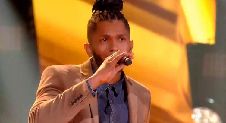 David é instrumentista e subiu ao palco pela primeira vez no The Voice Brasil - Foto: Reprodução | TV Globo