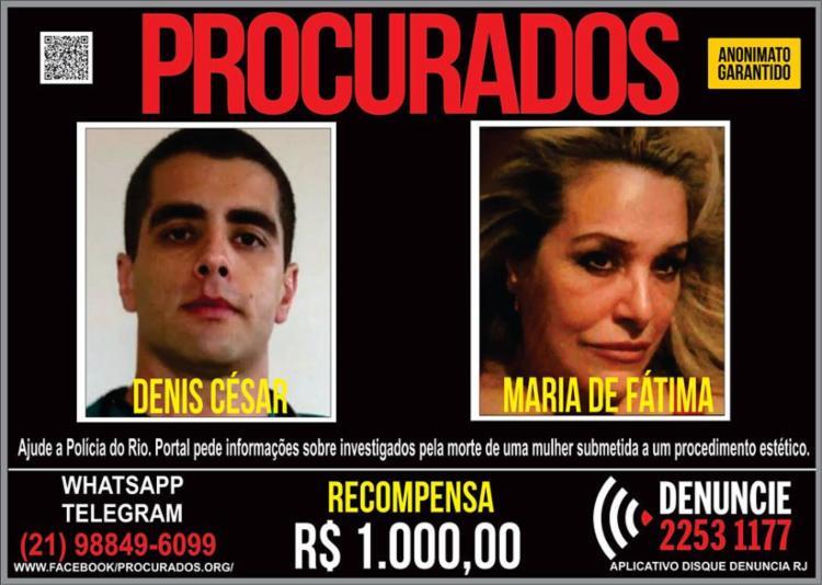 Denis Furtado e sua mãe, Maria Furtado, são procurados por morte de bancária - Foto: Reprodução l Facebook