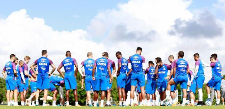 Esquadrão tem desfalques para o primeiro jogo da grande decisão; contundidos, o goleiro Douglas, o volante Elton e o centroavante Kayke não vão poder atuar - Foto: Felipe Oliveira | EC Bahia