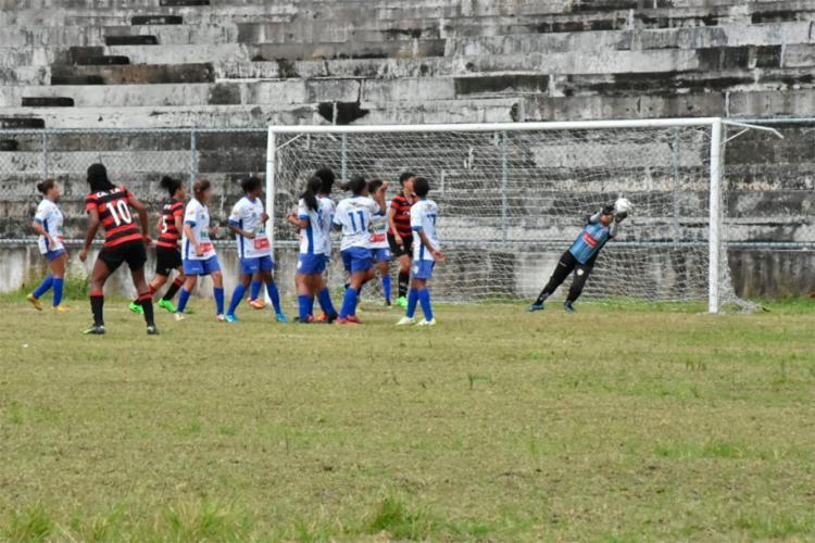 O Rubro-Negro pressionou o adversário do início ao fim do jogo - Foto: Emanuel Jr. | Jequié