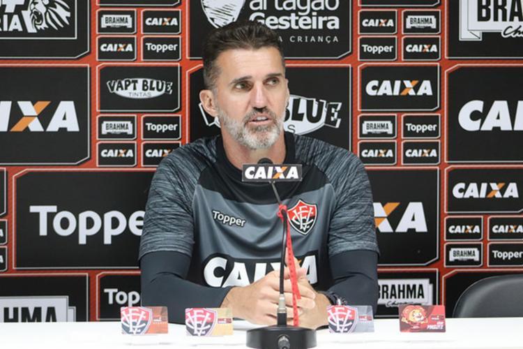 Treinador deixa o Leão com 50% de aproveitamento e escreve carta de despedida - Foto: Maurícia da Matta l EC Vitória