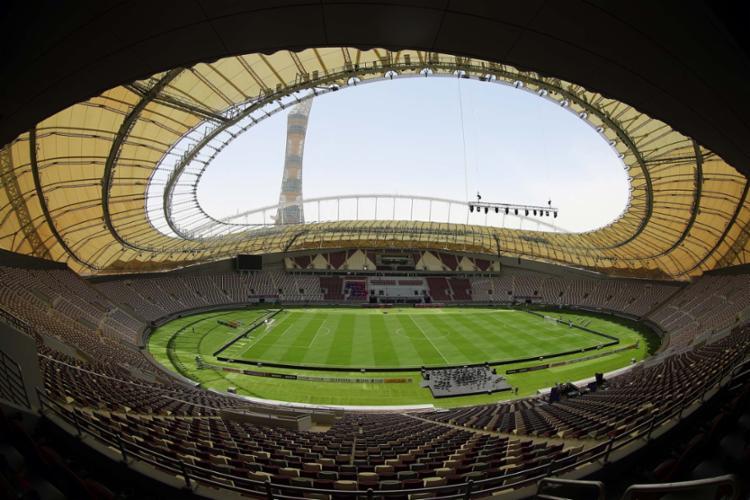 O Estádio Internacional Khalifa, em Doha, já foi entregue para a Copa 2022 - Foto: Karim Jaafar   AFP