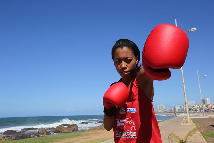 Fabiana é vice no ranking nacional do peso mosca - Foto: Margarida Neide l Ag. A TARDE