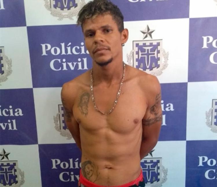 Adenilson estava escondido na casa de parente no povoado do Tapuio - Foto: Reprodução | Site | Jacobina 24h