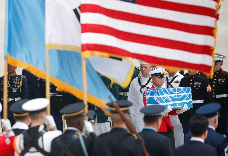 Fuzileiros foram mortos durante os confrontos na Guerra da Coreia - Foto: Kim Hong-Ji l AFP