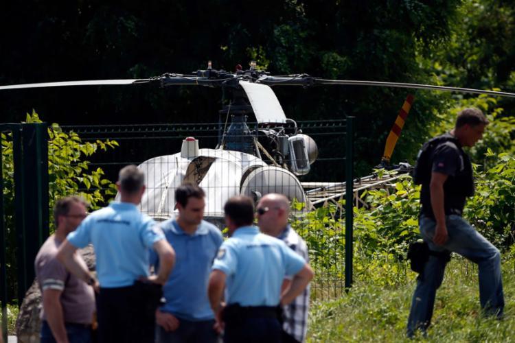Helicóptero com um