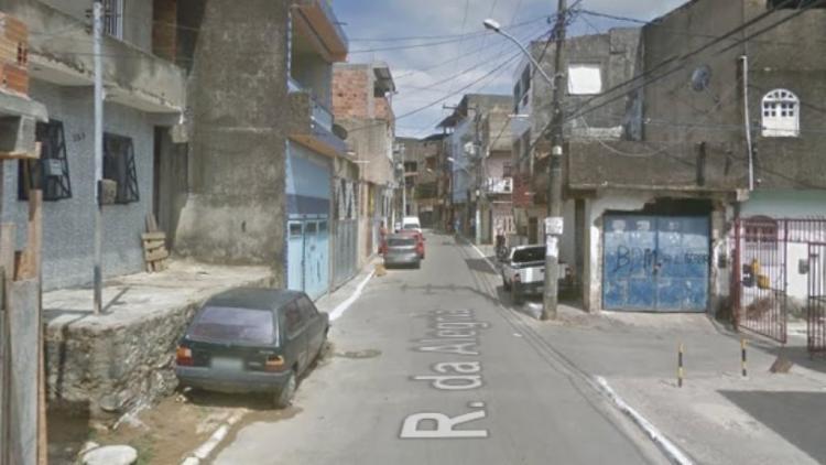 Tentativa de homicídio aconteceu na rua da Alegria - Foto: Reprodução | Google Street View