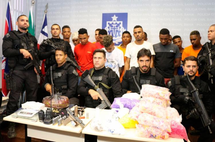 Suspeitos foram apresentados na manhã desta terça-feira, 31 - Foto: Alberto Maraux   SSP
