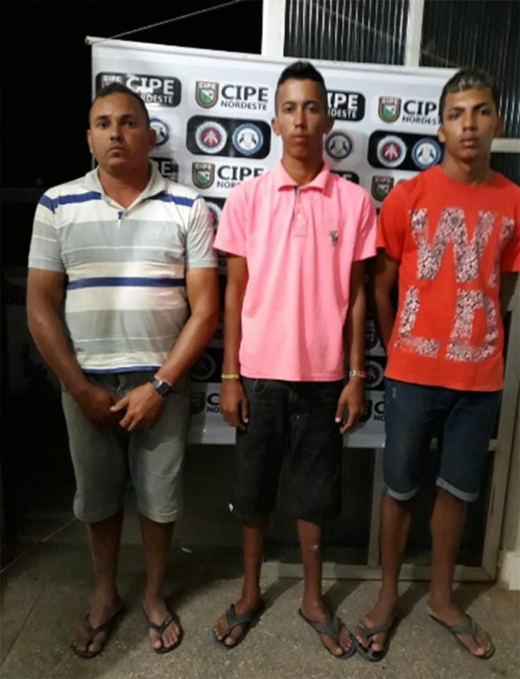 Além do proprietário do imóvel, outros dois homens foram apreendidos - Foto: Divulgação | SSP