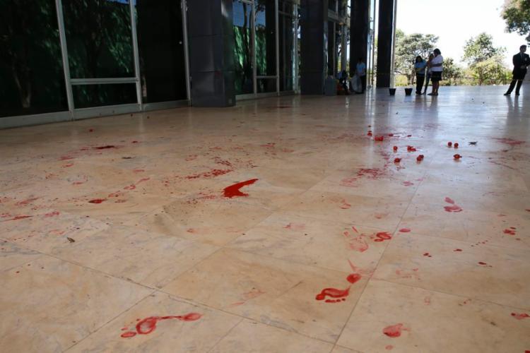 Ato ocorreu no fim da manhã e durou pouco mais de vinte minutos - Foto: Antonio Cruz | Agência Brasil