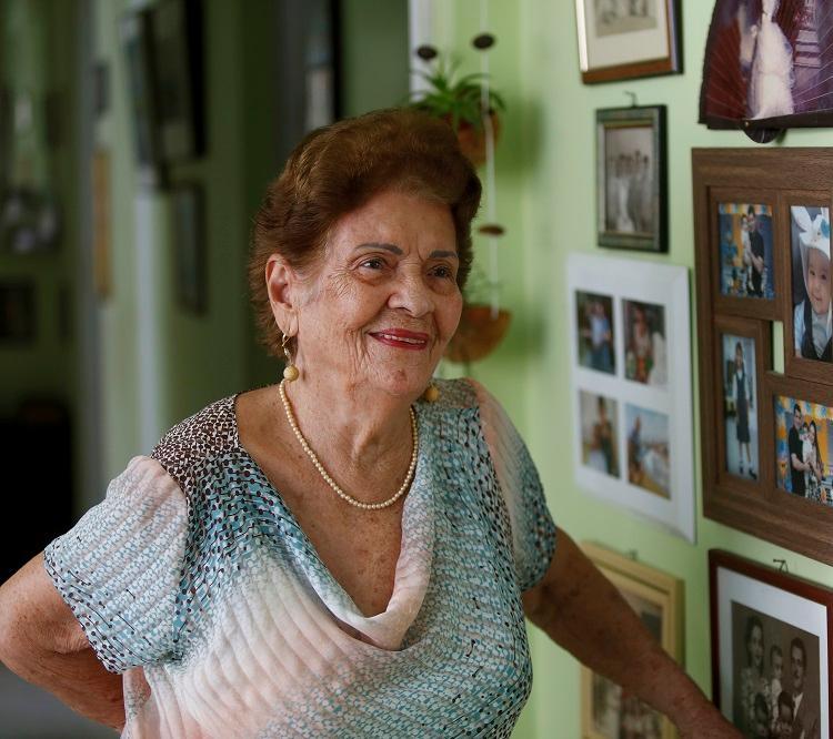 Floricena Nogueira fez duas tatuagens no ano passado, aos 94 anos